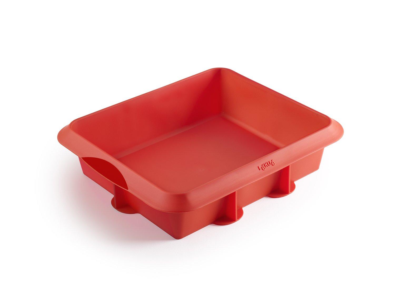 Форма для лазаньи силиконовая Lekue (цвет: красный)