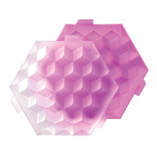 """Форма """"Кубики для льда"""" Lekue, маджента"""