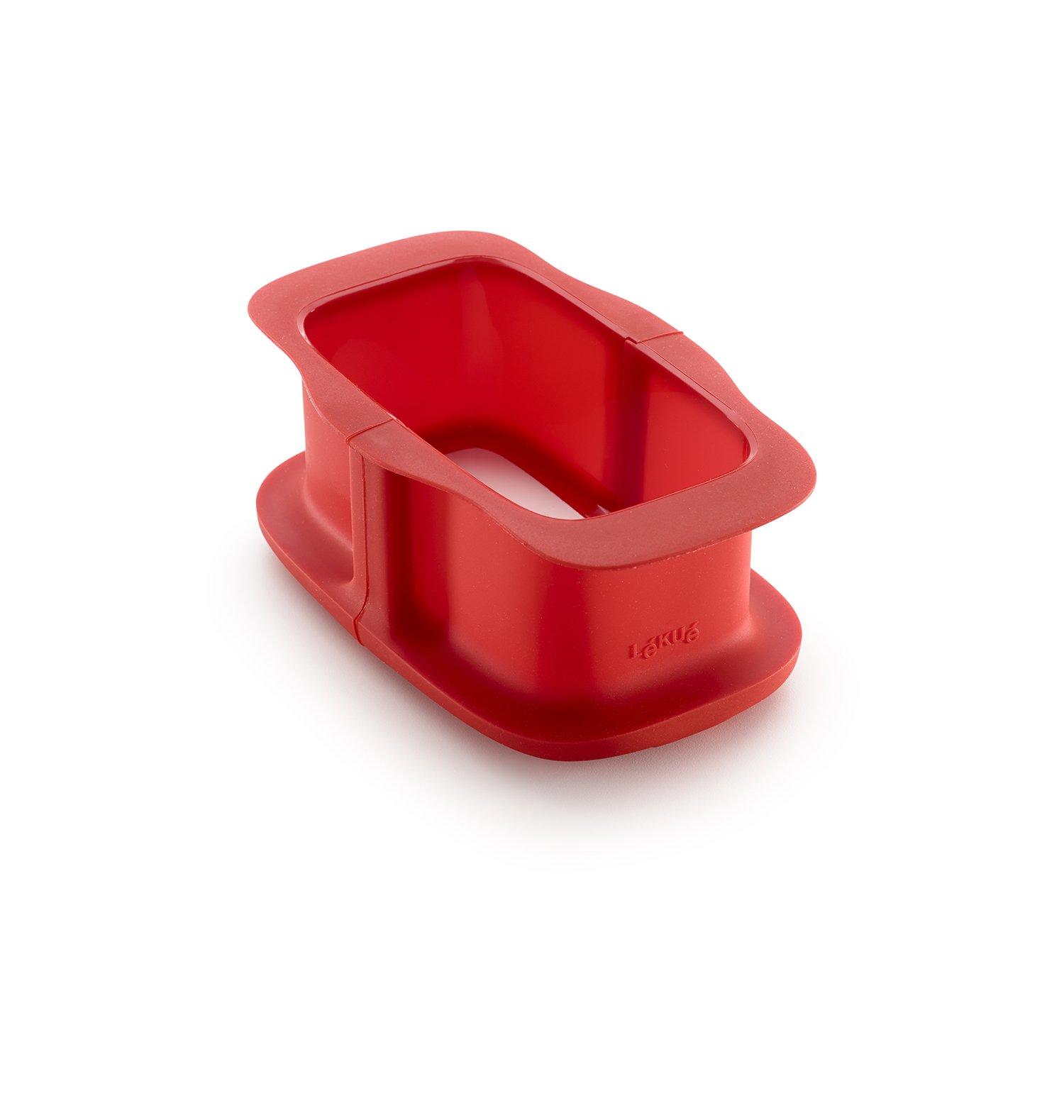 Форма разъемная для кекса с керамическим блюдом 15 см (цвет: красный)