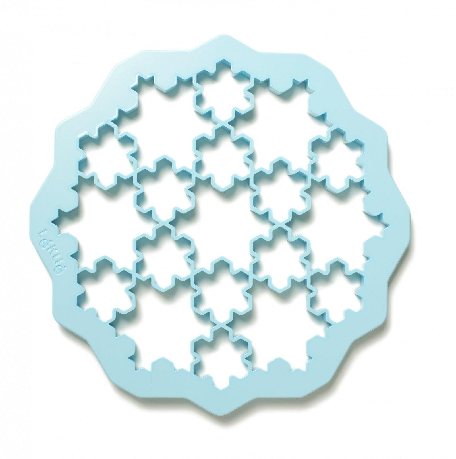 """Форма для печенья """"Снежинки""""  (цвет: голубой)"""