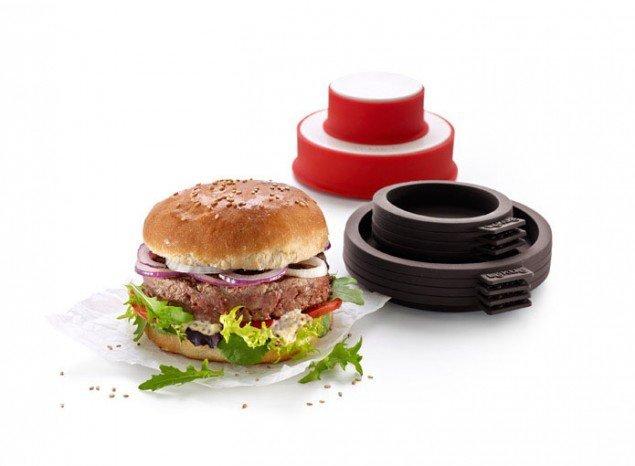 Набор Бургер Lekue (4 больших и 4 маленьких формочек для булочек, форма для котлет)