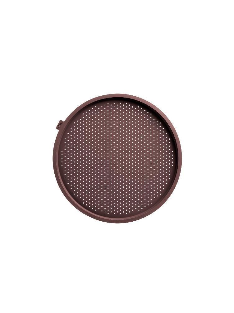 Круглый коврик для пиццы, перфорированный, силиконовый, 36 см (цвет: коричневый)