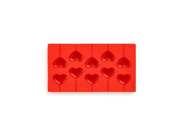 """Набор """"Сердечки""""для приготовления шоколадных конфет, (цвет: красный)"""
