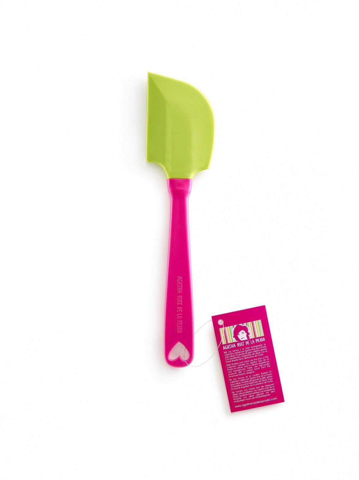 Шпатель силиконовый AGATHA Lekue, салатовый, розовая ручка, 10,8 см
