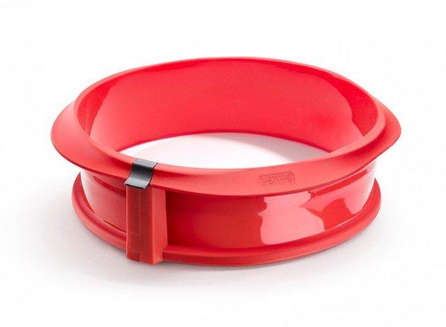 Разъемная форма Lekue силиконовая с керамическим блюдом 23 см (цвет: красный)