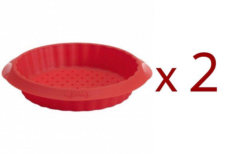 """Набор: Форма """"Тарталет"""" Lekue 12 см. (4 шт.), красная: 1+1"""