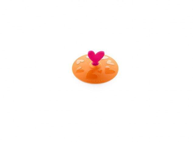 """Крышка герметичная вакуумная """"Сердце"""" AGATHA Lekue (10,5 см), оранжевая"""