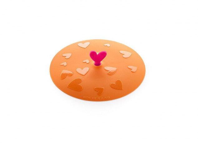 """Крышка герметичная вакуумная """"Сердце"""" AGATHA Lekue (17 см), оранжевая"""