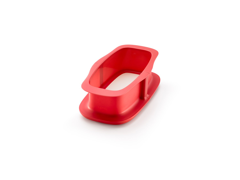 Форма разъемная для кекса с керамическим блюдом квадратная 24 см (цвет: красный)