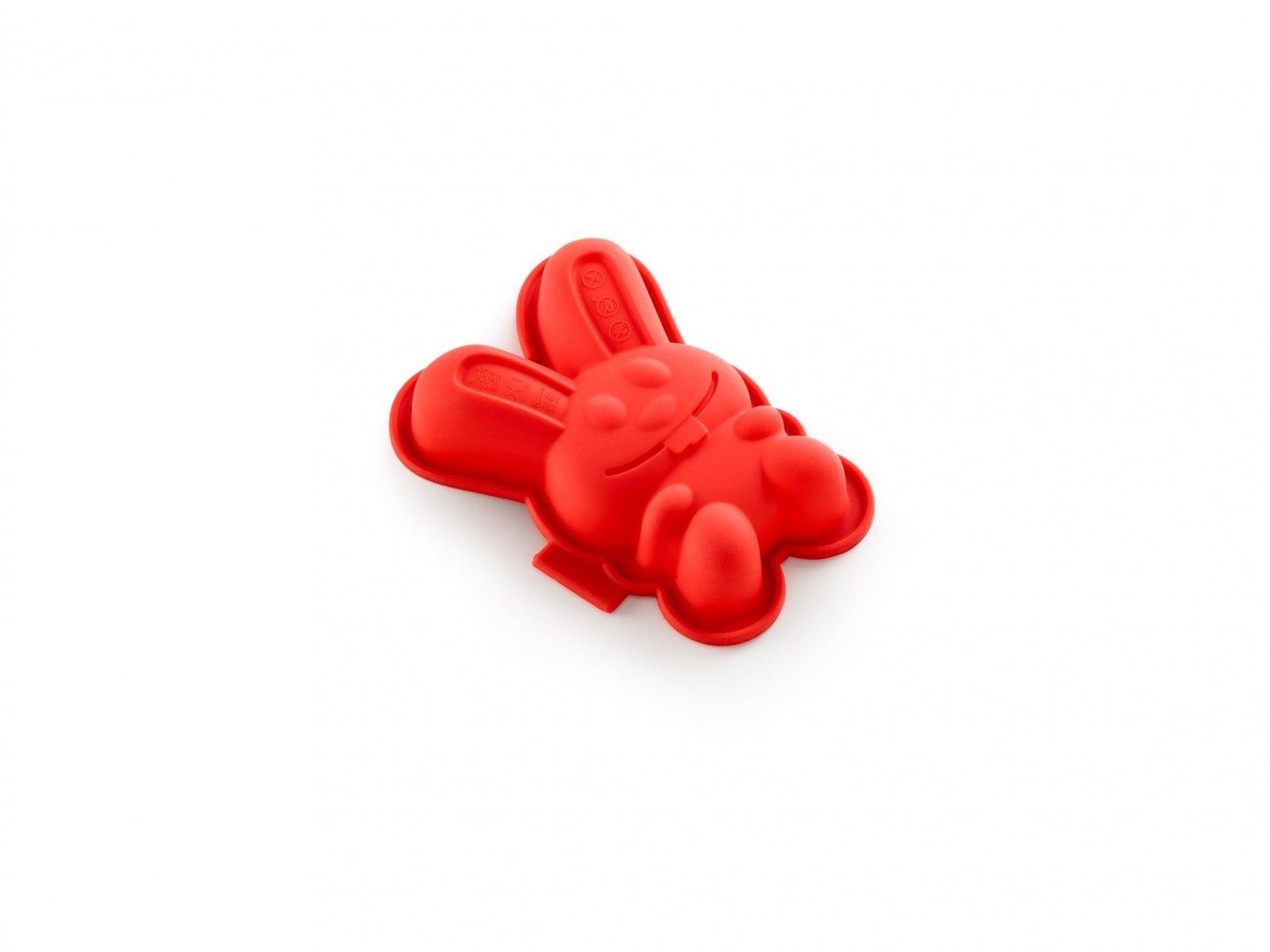 """Форма для кекса """"Зайчик"""" 2 шт (цвет:красный)"""