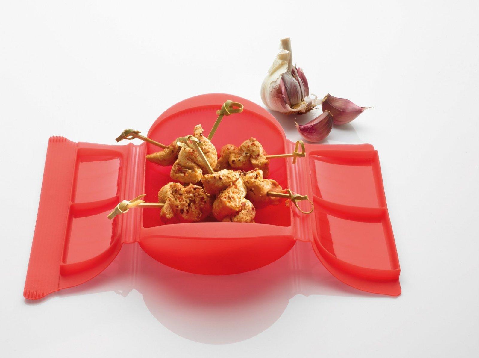 Конверт для запекания Порционный Lekue, 1-2 порции, красный