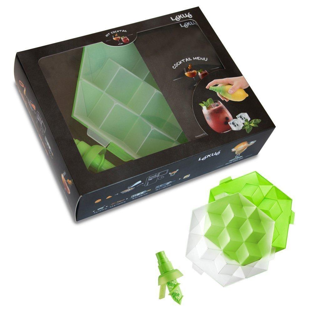 """Набор """"Коктейль"""" Lekue (форма для льда куб, цитрус-спрей + буклет с рецептами)"""