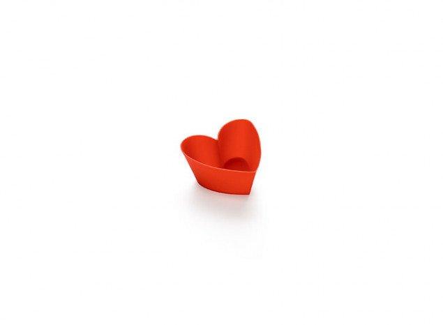 """Набор форм для маффинов """"Сердце"""" AGATHA Lekue, 6шт, красный"""