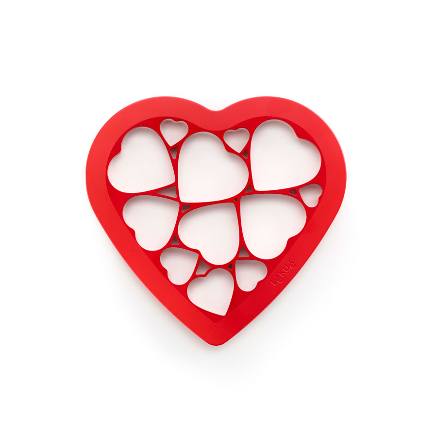 Форма для печенья Сердечки Lekue красная