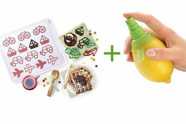 Набор Декомат + цитрус-спрей Lekue в подарок (декоратор декопен + прозрачный силиконовый коврик + 4 трафарета)