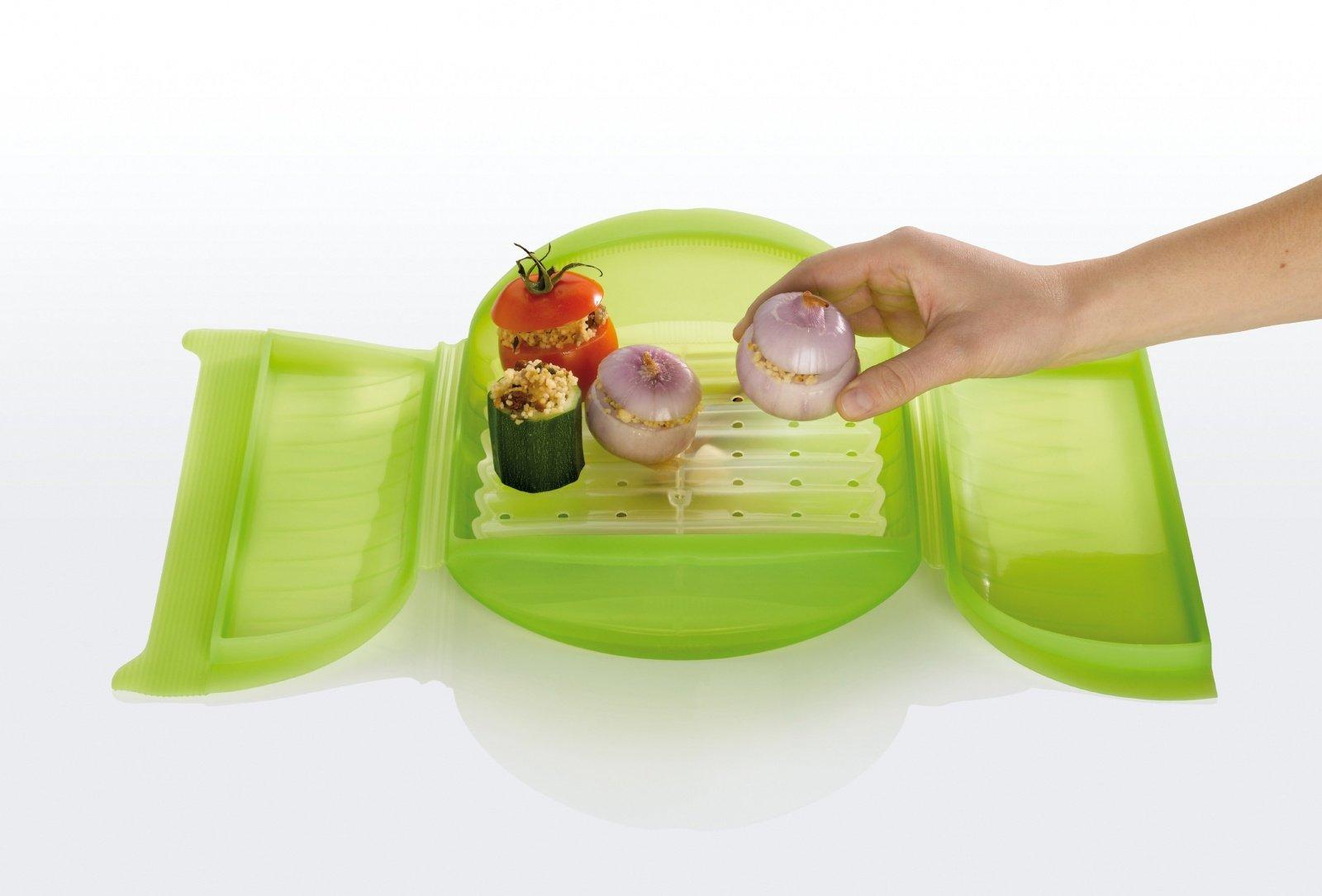 Конверт для запекания Семейный Lekue с поддоном, 3-4 порции, салатовый
