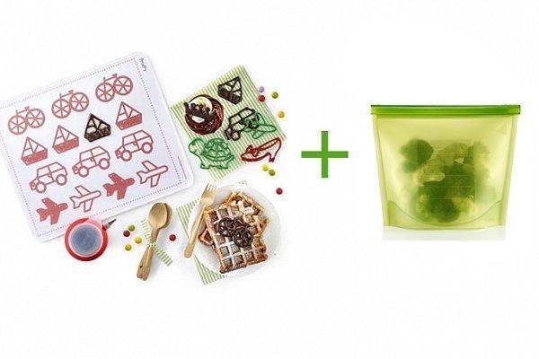 """Набор """"Декомат"""" + Пакет-контейнер силиконовый (салатовый) Lekue в подарок"""