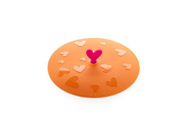 """Крышка герметичная вакуумная """"Сердце"""" AGATHA Lekue (21 см), оранжевая"""